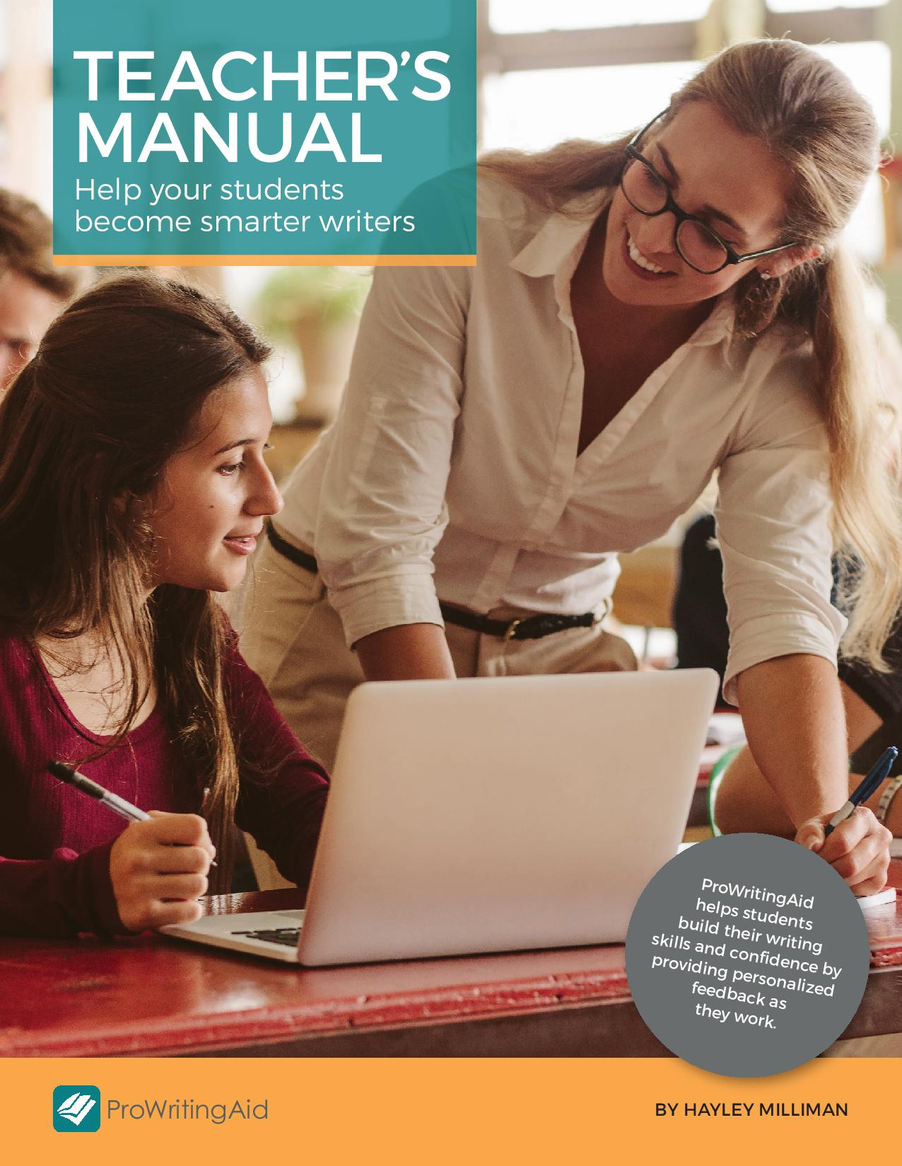 Teacher's manual Help your students become smarter writers